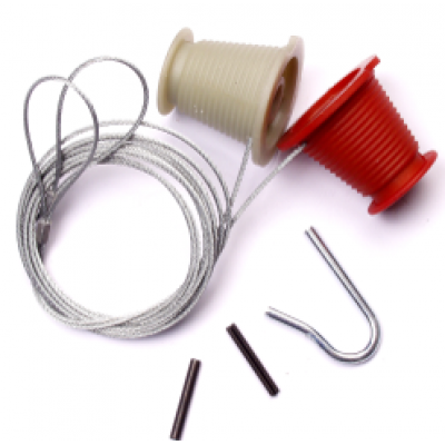 AP93 - Pair of Cones and Cables For Wessex/Wicks/Arcadian Canopy Doors